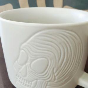 Starbucks white Skull coffee mug Halloween 2019